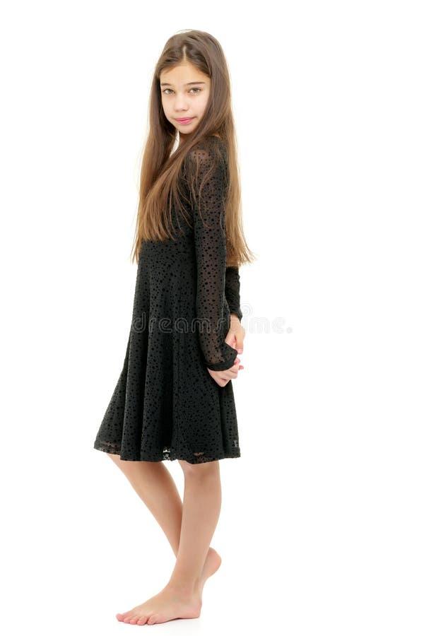 Menina em um vestido elegante imagem de stock royalty free