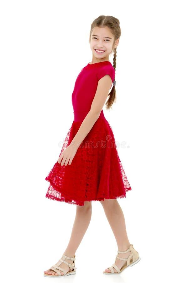 Menina em um vestido elegante fotografia de stock