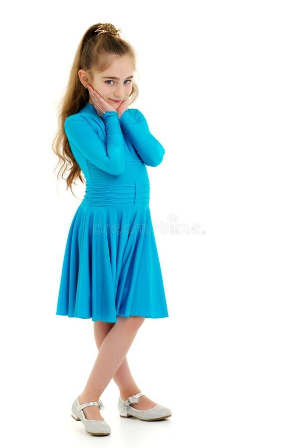 Menina em um vestido elegante imagens de stock royalty free