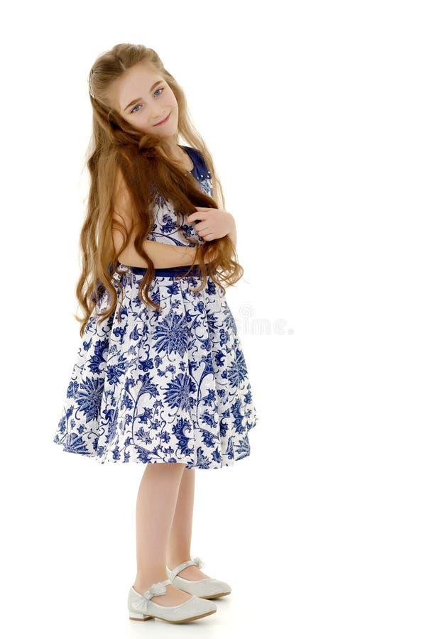 Menina em um vestido elegante imagem de stock