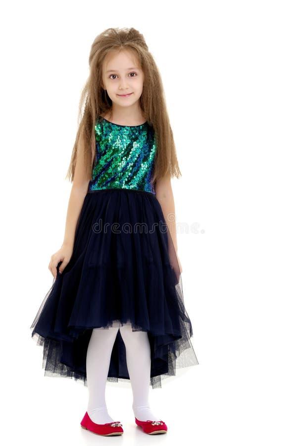 Menina em um vestido elegante fotografia de stock royalty free