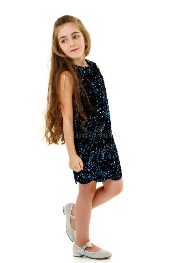Menina em um vestido elegante foto de stock royalty free