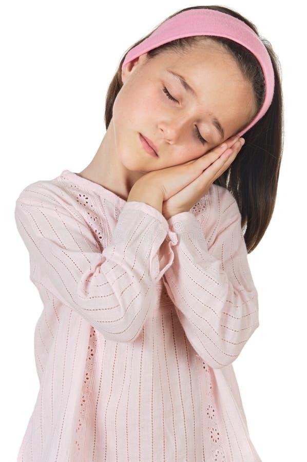 Menina encantadora de sono foto de stock royalty free