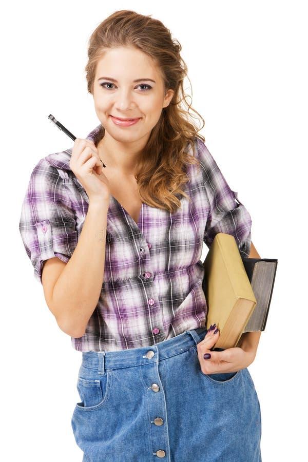 Menina encantadora do estudante imagens de stock