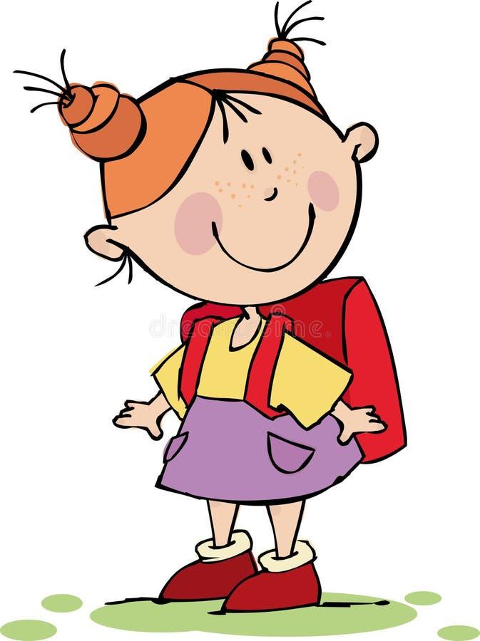 Menina engraçada ilustração do vetor