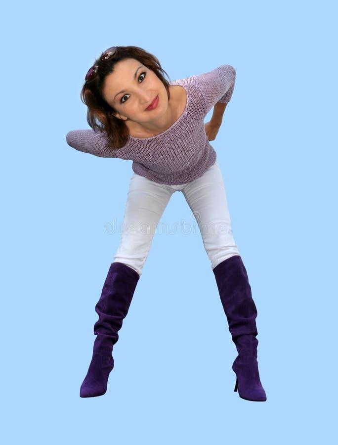 Menina engraçada fotografia de stock