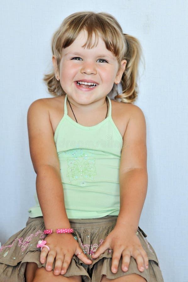 Menina engraçada da criança fotos de stock