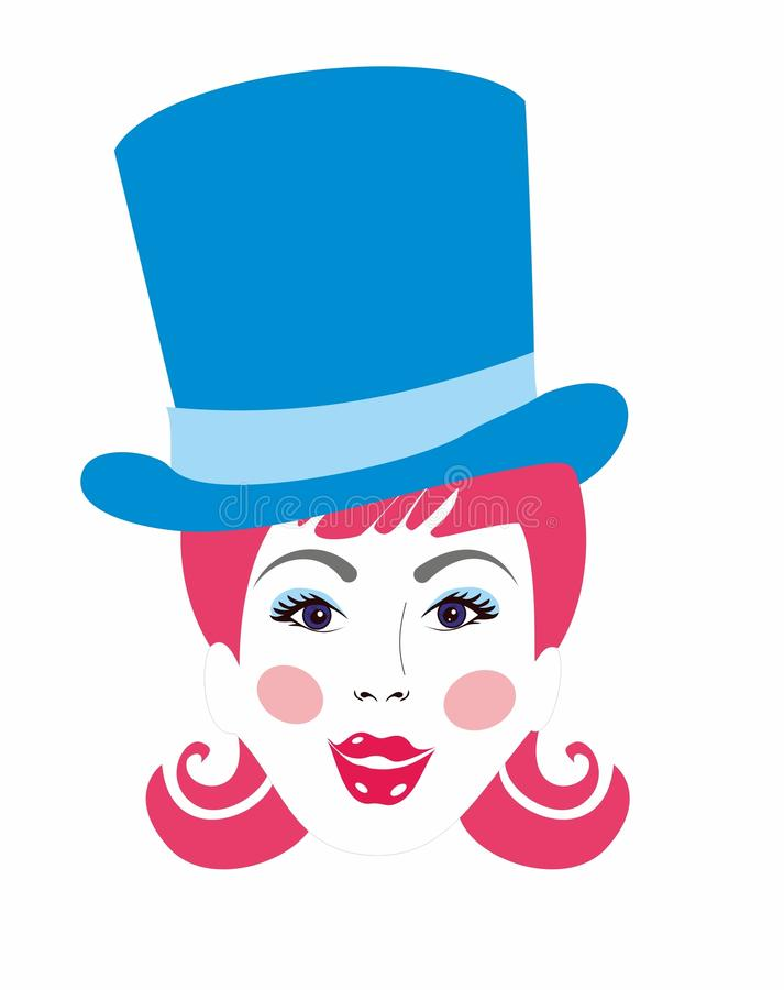 Menina engraçada no chapéu imagem de stock royalty free
