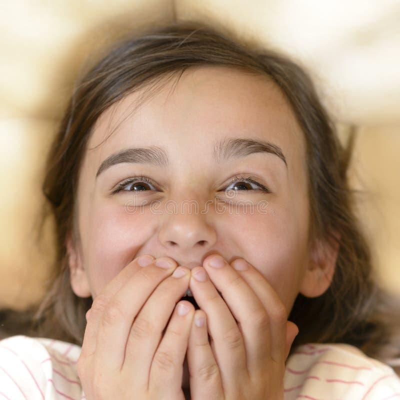 Menina entusiasmado fotos de stock
