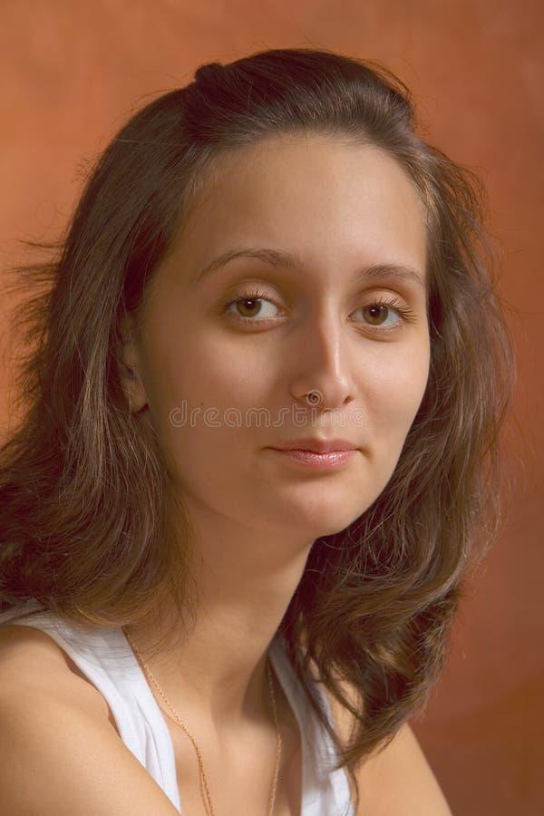 A Menina Está Sorrindo Imagem de Stock