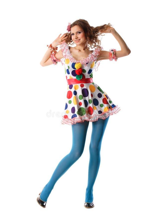 Menina estranha bonita engraçada foto de stock royalty free
