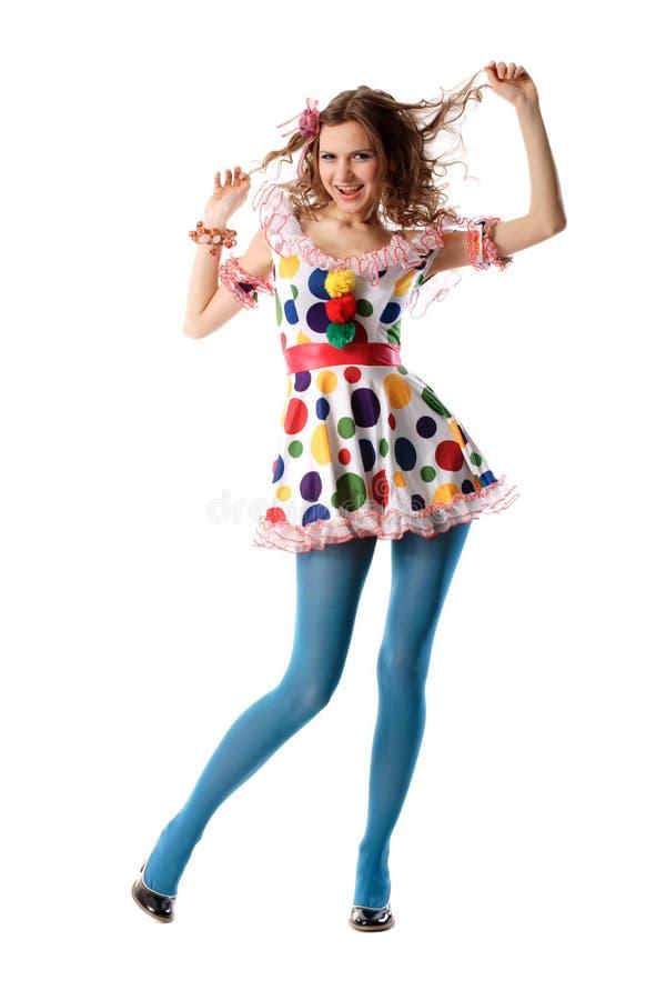 Menina estranha bonita engraçada fotografia de stock