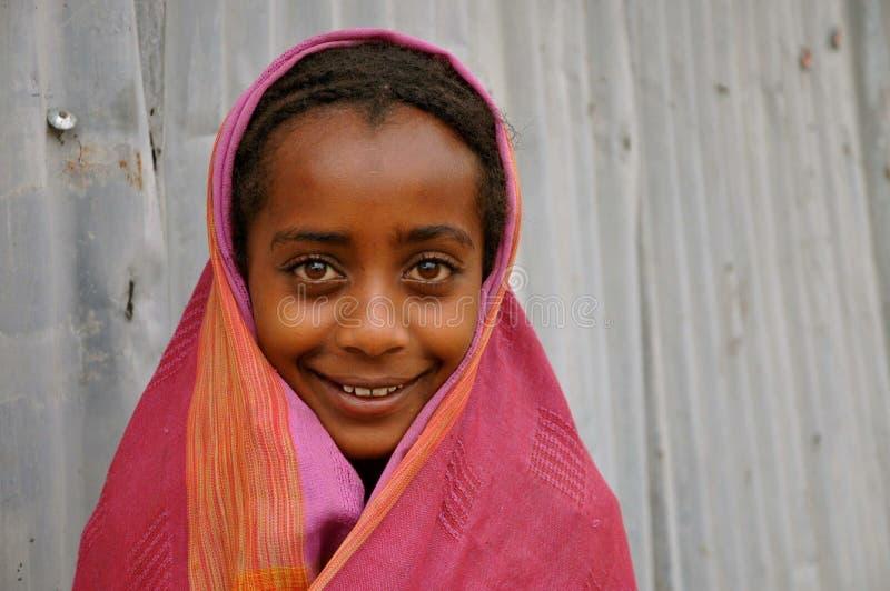 Menina etíope bonita foto de stock royalty free
