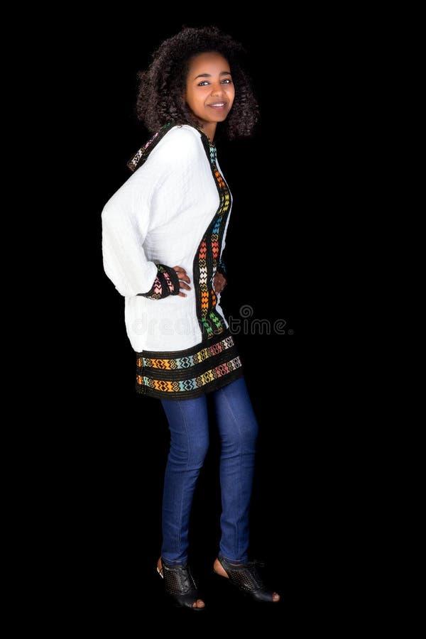 Dança etíope fotografia de stock