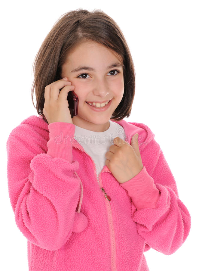 Menina, falando no telefone foto de stock royalty free