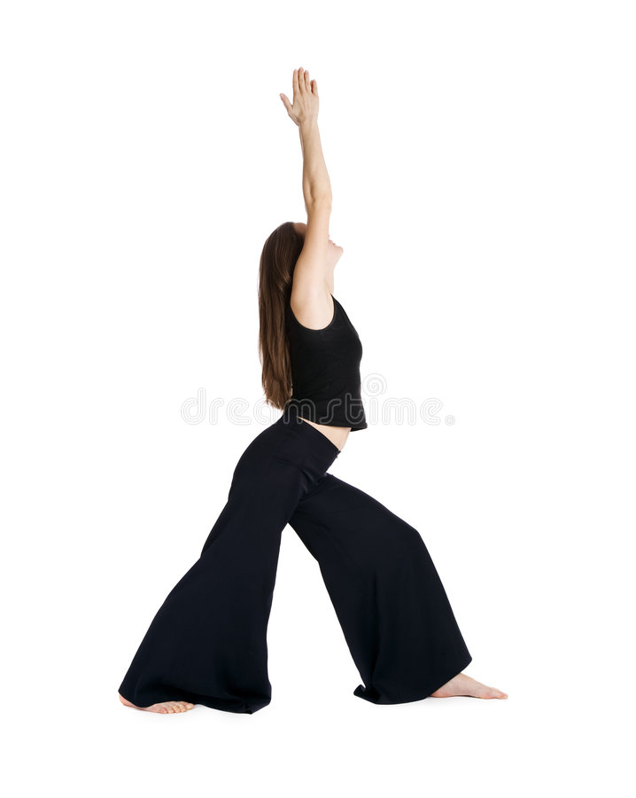 A menina faz a ginástica imagens de stock