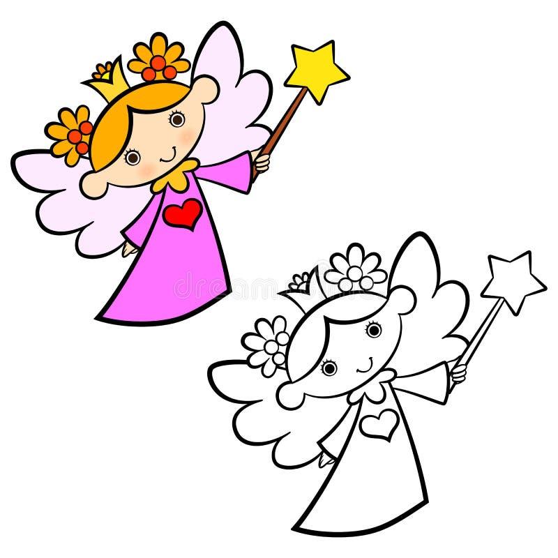 Menina feericamente do anjo ilustração stock