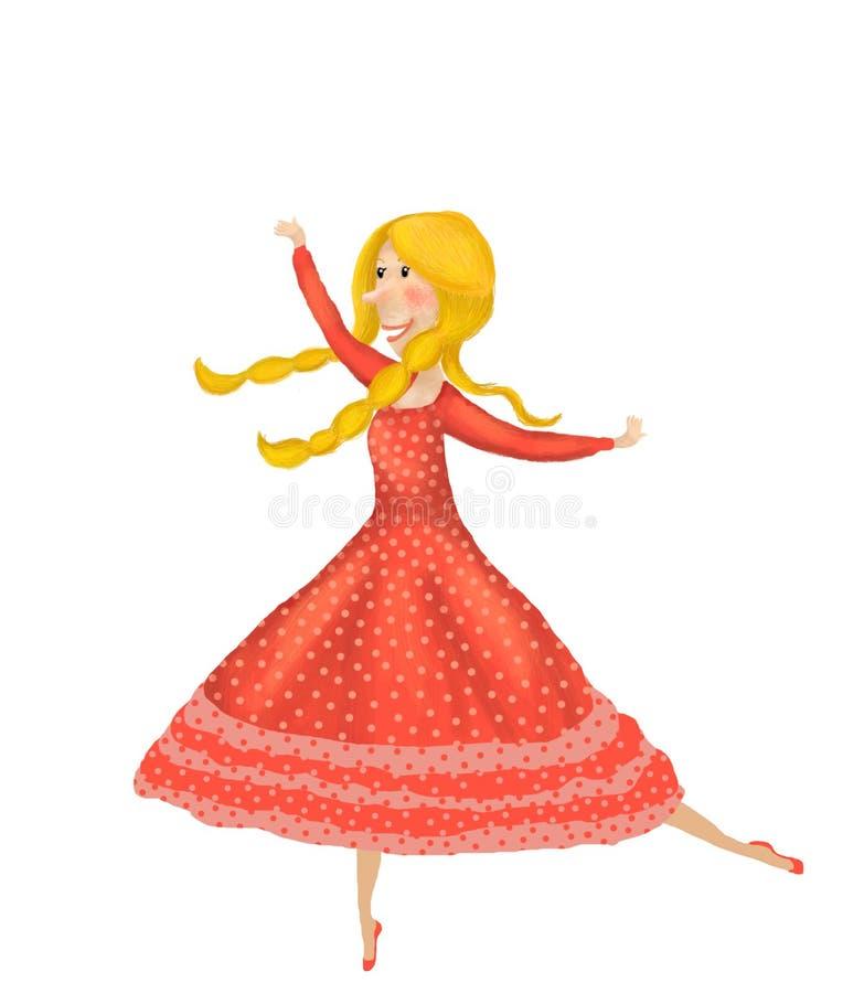 Menina feericamente pequena da bailarina ilustração stock