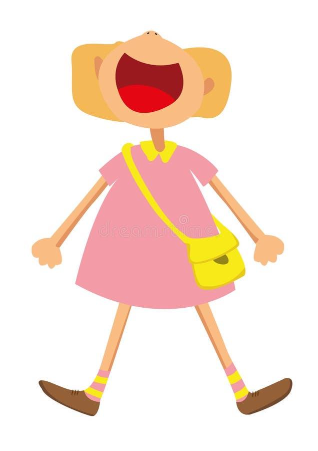 Menina feliz ilustração stock