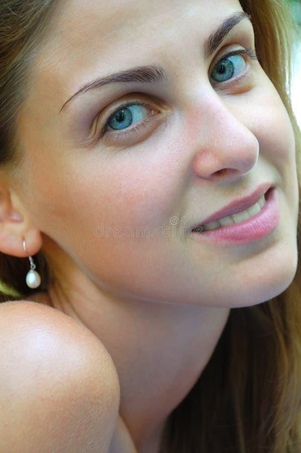 Menina feliz bonita foto de stock