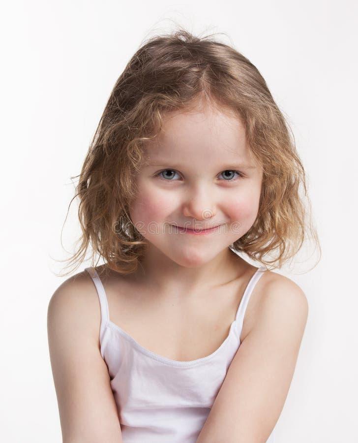 Menina feliz bonita fotografia de stock