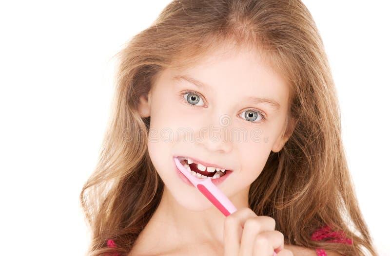 Download Menina Feliz Com Toothbrush Imagem de Stock - Imagem de caucasiano, cuidado: 12806319