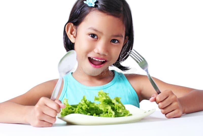Download Menina com vegetal foto de stock. Imagem de feliz, consideravelmente - 29832496