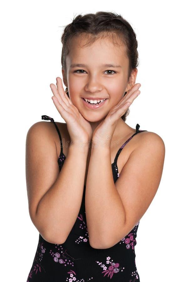 Menina feliz do preteen imagens de stock