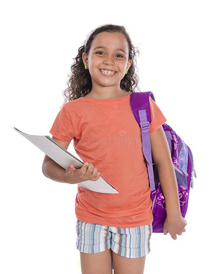 Menina feliz nova da escola imagens de stock royalty free