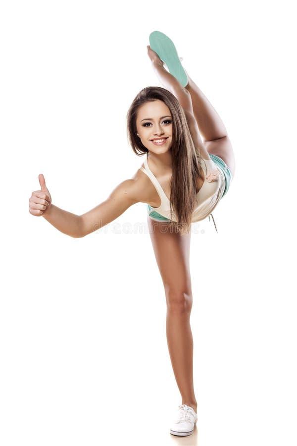 Menina flexível fotos de stock royalty free