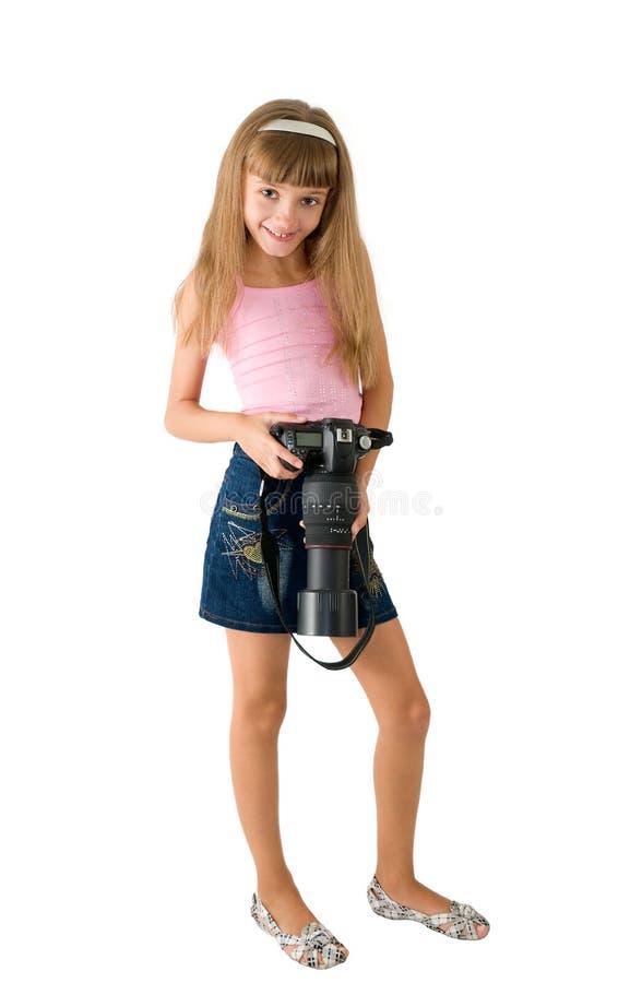A menina - fotógrafo fotos de stock