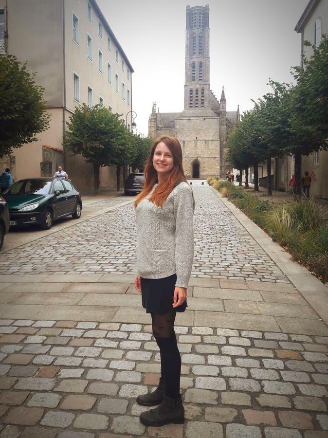 Menina francesa simples do país imagem de stock