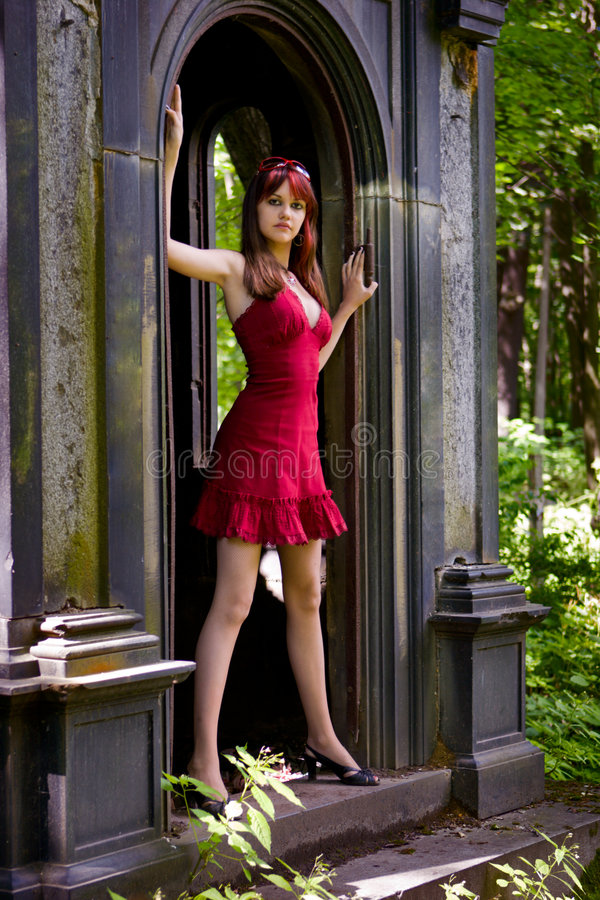 Menina gótico imagens de stock royalty free