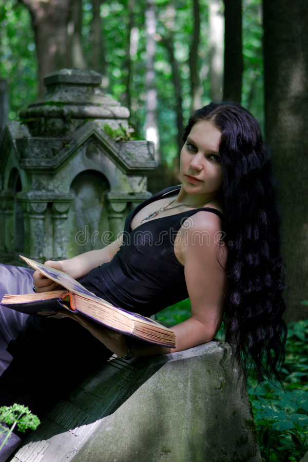 Menina gótico imagens de stock