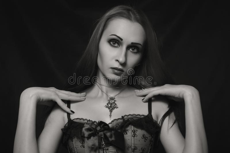 Menina gótico bonita imagem de stock royalty free
