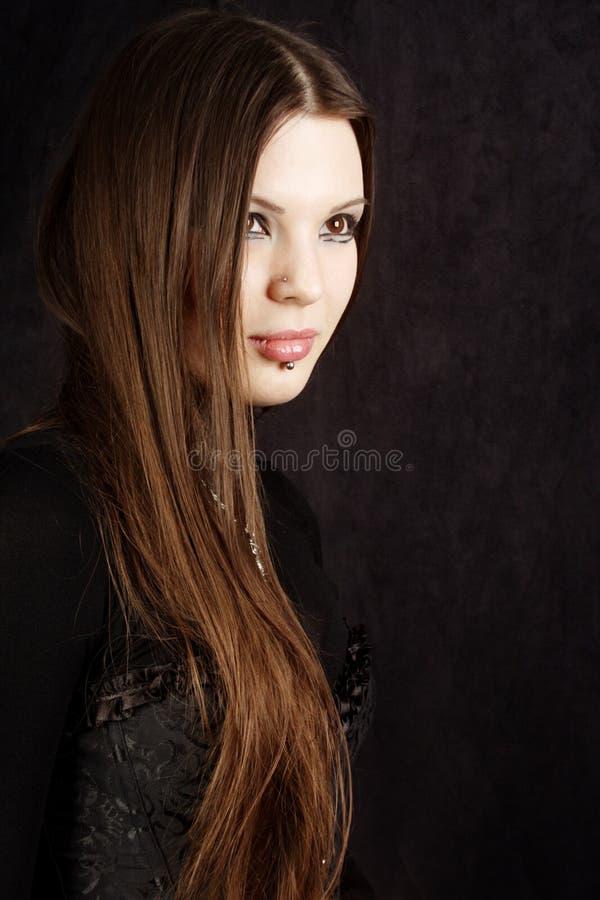 Menina gótico bonita foto de stock royalty free