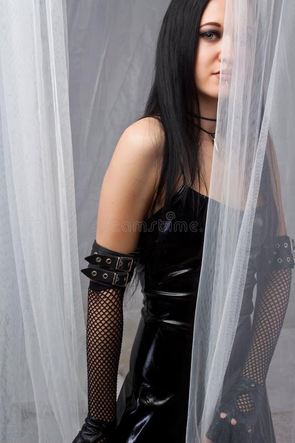 Menina gótico misteriosa foto de stock