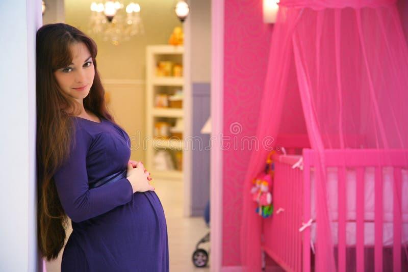 Menina grávida imagens de stock royalty free