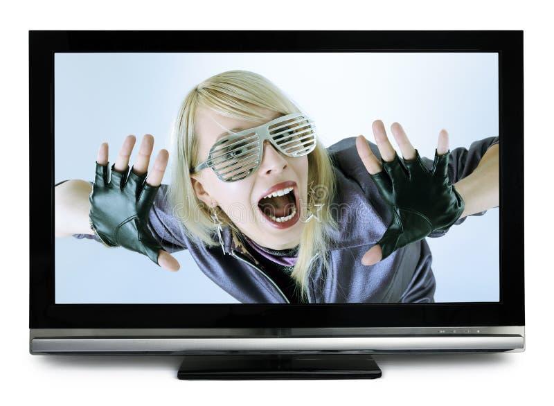 Menina gritando fotografia de stock royalty free
