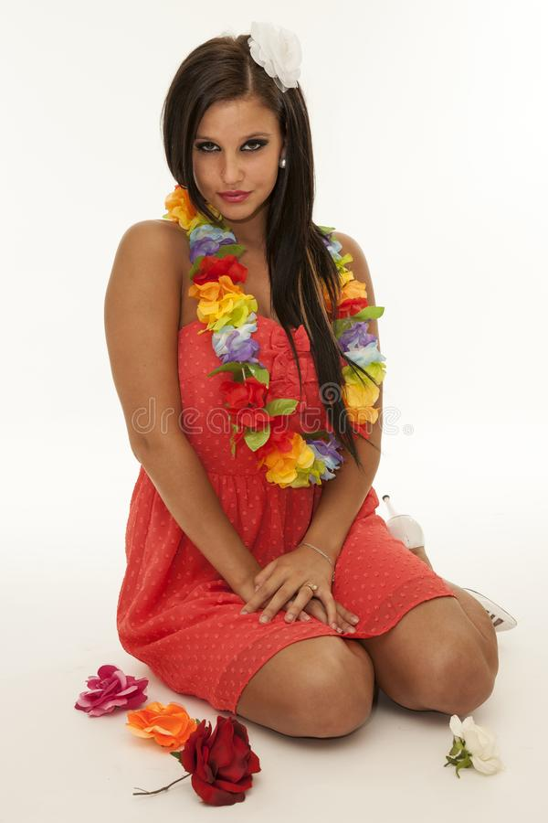 Menina havaiana fotografia de stock royalty free