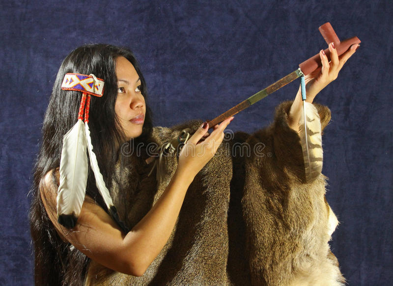 Menina indiana americana foto de stock royalty free