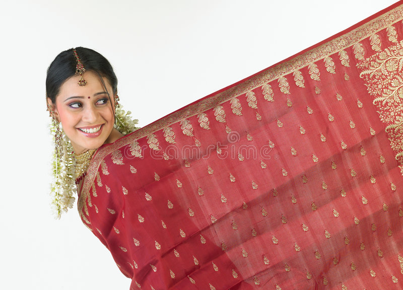 Menina indiana com sari foto de stock