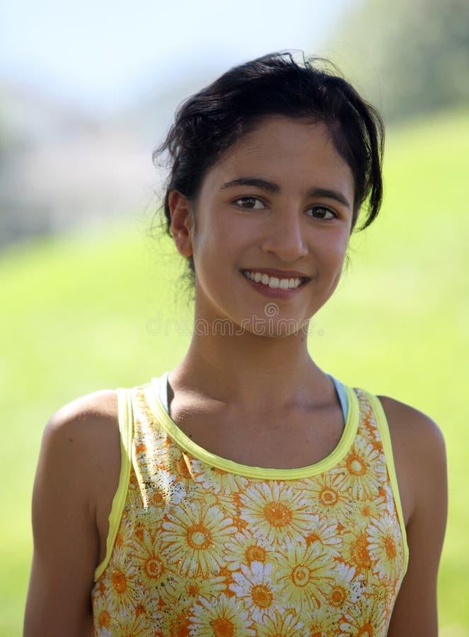 Menina indiana de sorriso foto de stock royalty free
