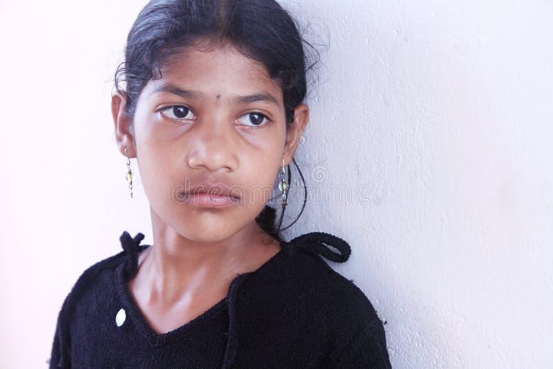 Menina indiana deprimida imagem de stock royalty free