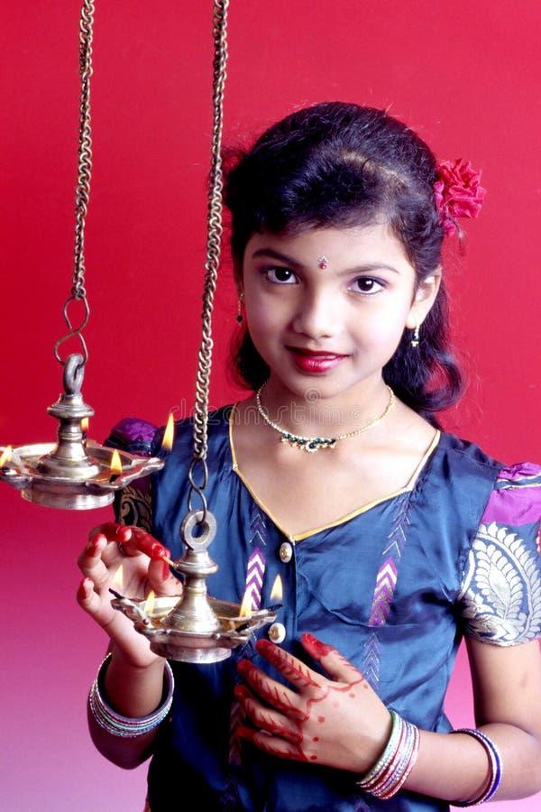 Menina indiana nova fotografia de stock royalty free