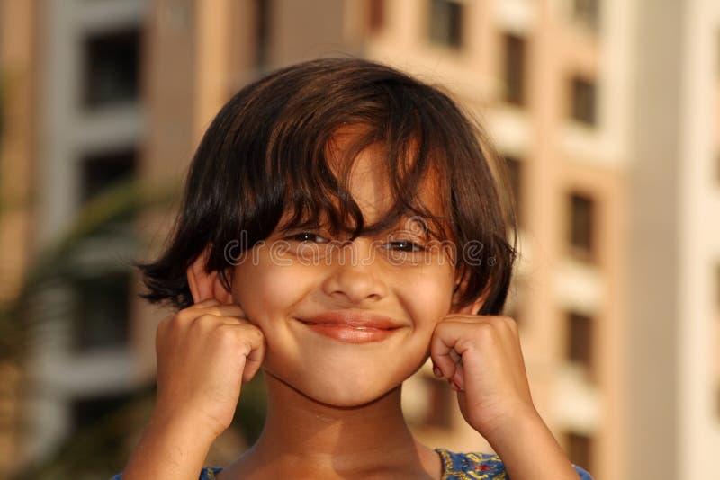 Menina indiana nova feliz fotografia de stock