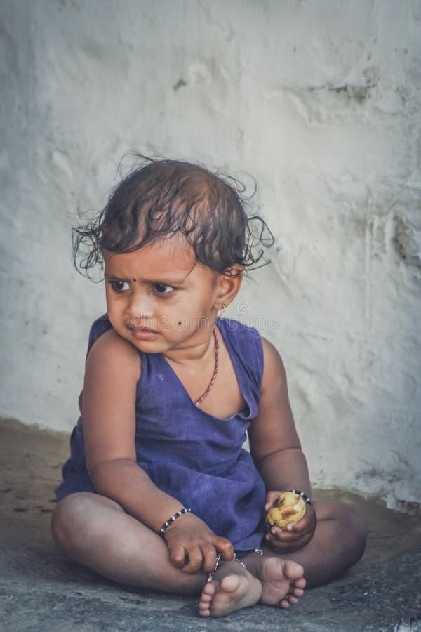 Menina indiana pequena imagens de stock
