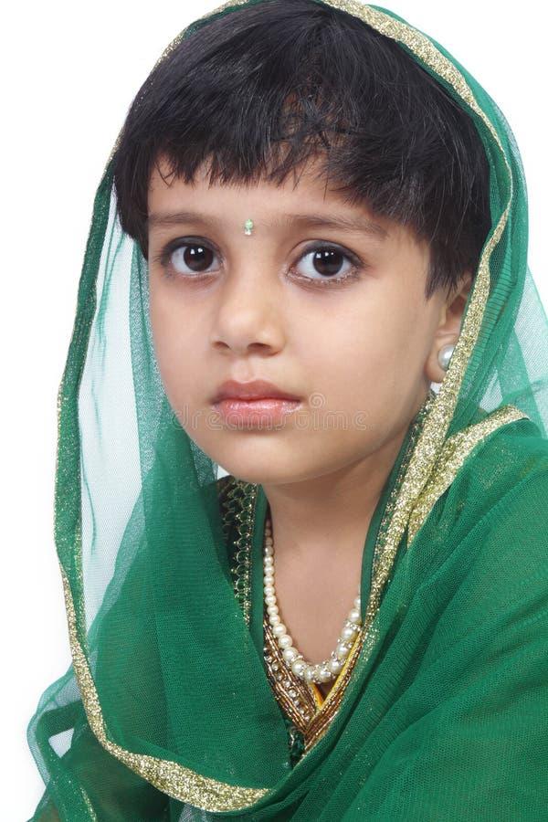 Menina indiana tradicional fotografia de stock royalty free