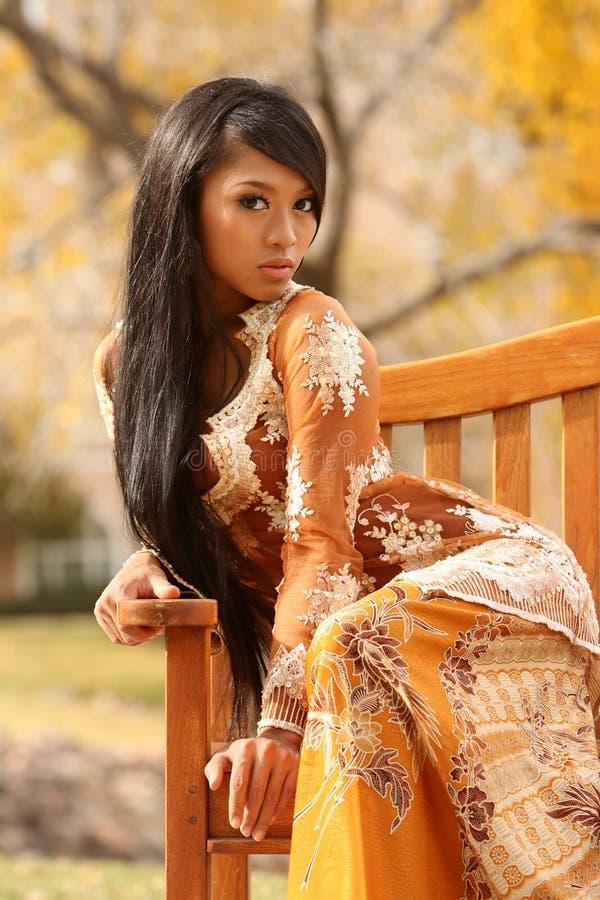 Menina indonésia asiática imagem de stock