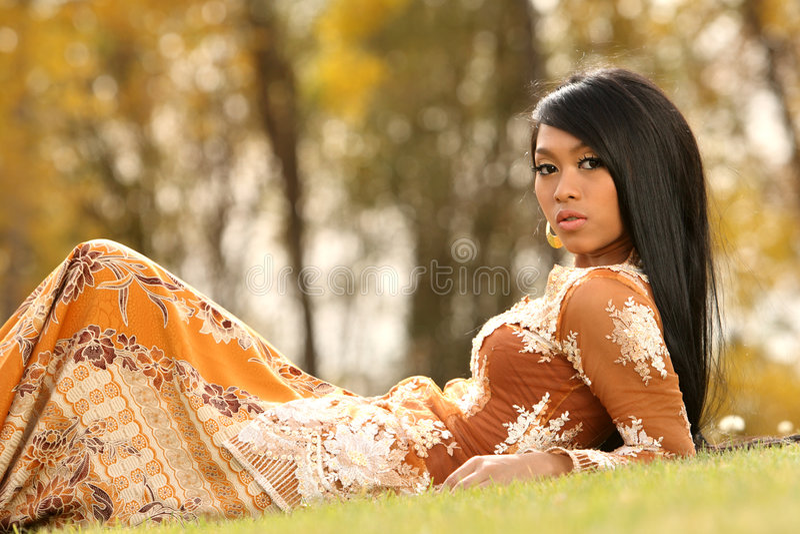 Menina indonésia asiática foto de stock royalty free